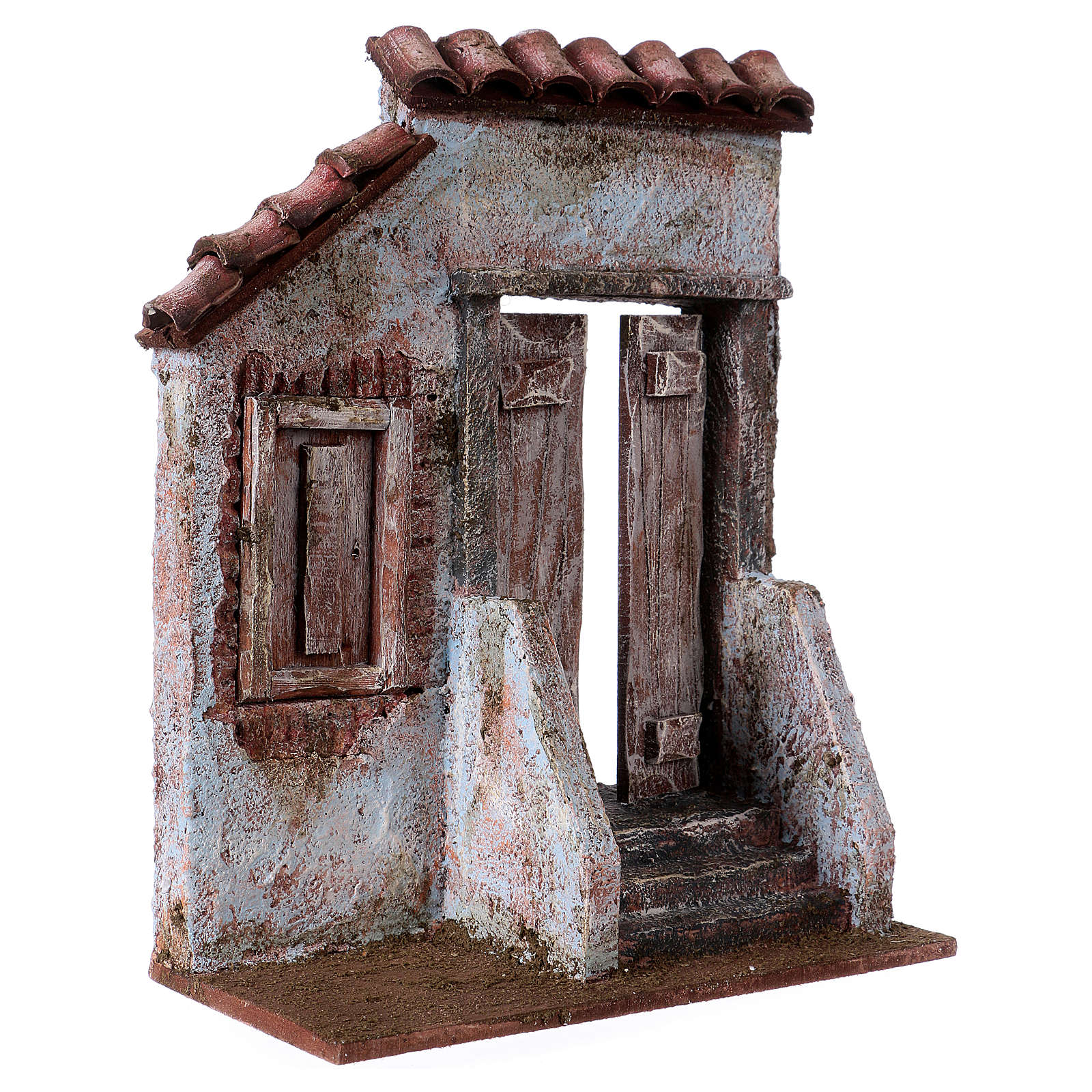 Facade of a House with door stairs, for 12 cm nativity 4