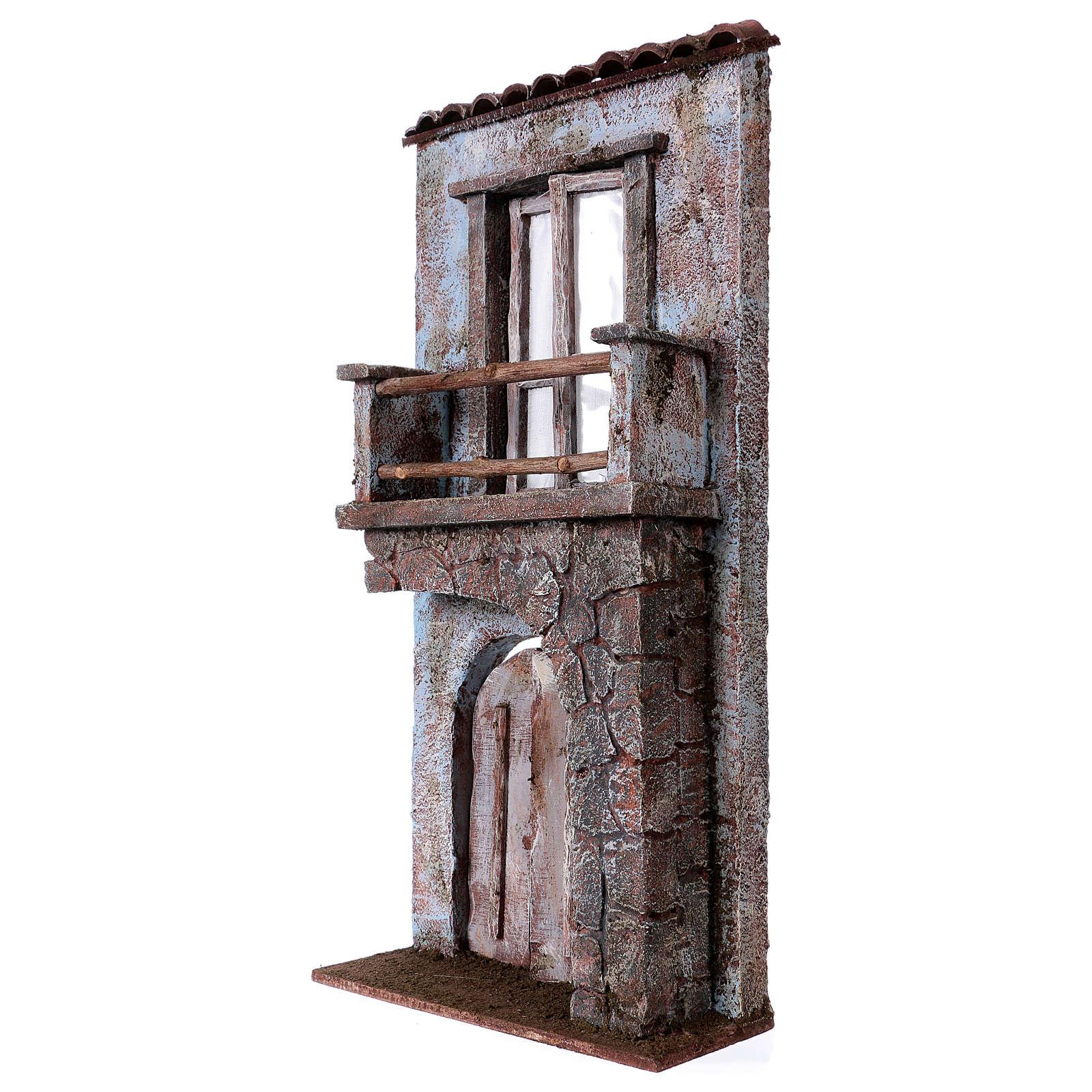 Facciata balcone porta mezzo arco per statue da 12 cm 4