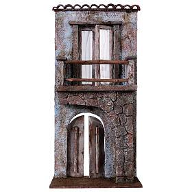 Facciata balcone porta mezzo arco per statue da 12 cm s1