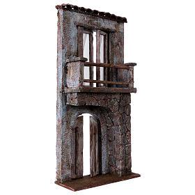 Facciata balcone porta mezzo arco per statue da 12 cm s3