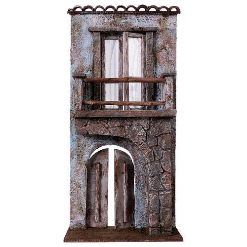 Facciata balcone porta mezzo arco per statue da 12 cm 1