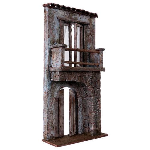 Facciata balcone porta mezzo arco per statue da 12 cm 3
