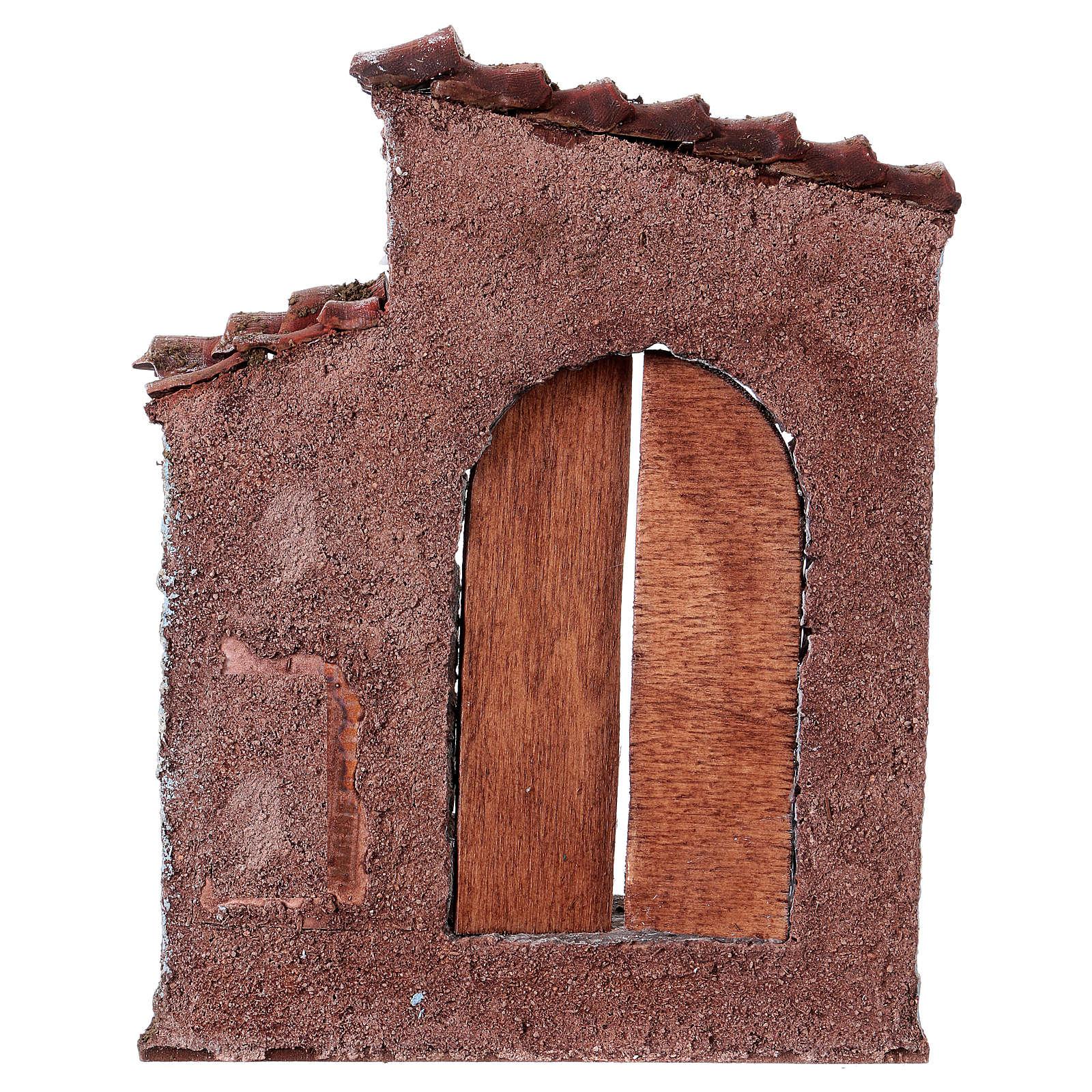 Facciata porta sinistra finestra destra presepe 10 cm 4