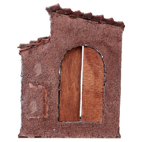 Facciata porta sinistra finestra destra presepe 10 cm 3