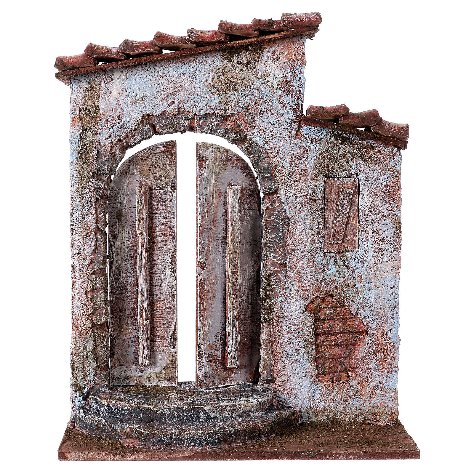 Facciata finestra destra porta sinistra per pastori 12 cm 4