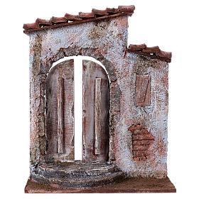 Facciata finestra destra porta sinistra per pastori 12 cm s1