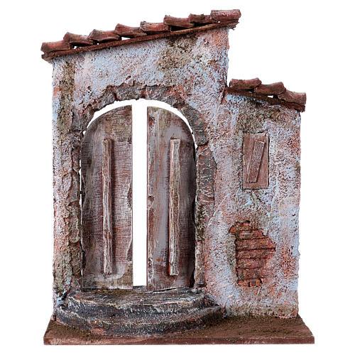 Facciata finestra destra porta sinistra per pastori 12 cm 1