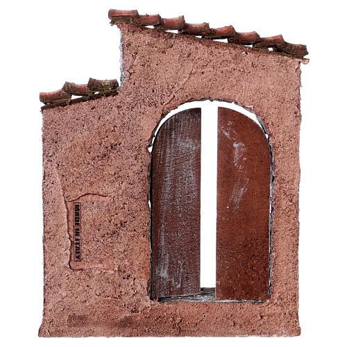 Facciata finestra destra porta sinistra per pastori 12 cm 3