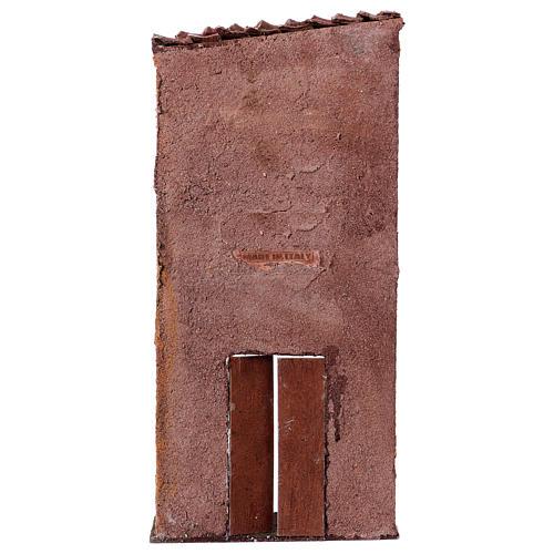Facciata porta centrale finestra sinistra per presepe 9 cm 32x15x5 cm 3