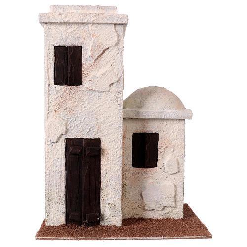 Nativity scene setting, Palestinian house with porch 25x20x15 cm for 9 cm Nativity scene 1