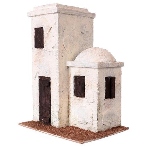 Nativity scene setting, Palestinian house with porch 25x20x15 cm for 9 cm Nativity scene 2