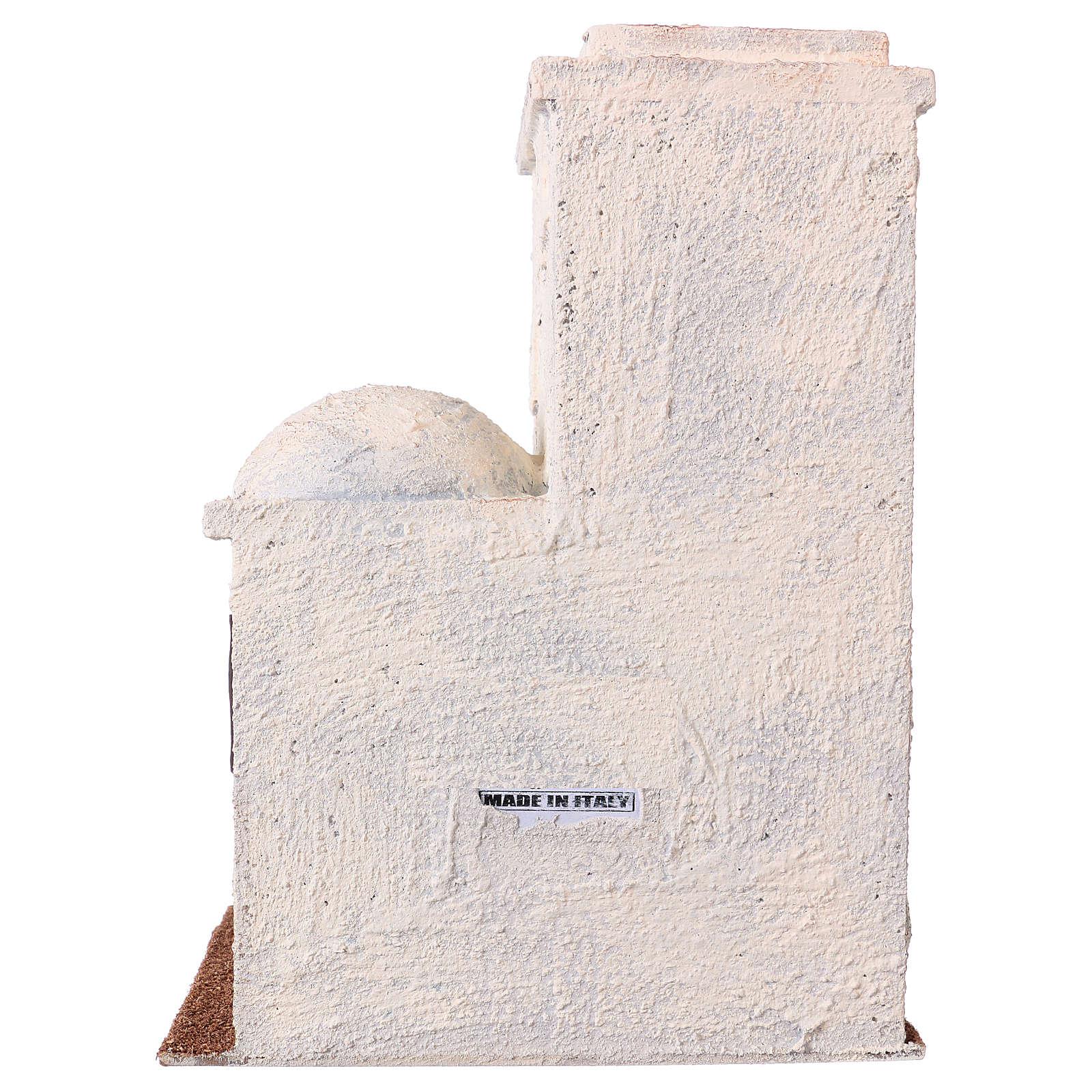 Maisonnette style palestinien 25x20x15 cm pour crèches de 9 cm 4