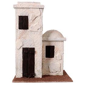 Maisonnette style palestinien 25x20x15 cm pour crèches de 9 cm s1