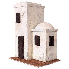Maisonnette style palestinien 25x20x15 cm pour crèches de 9 cm s2