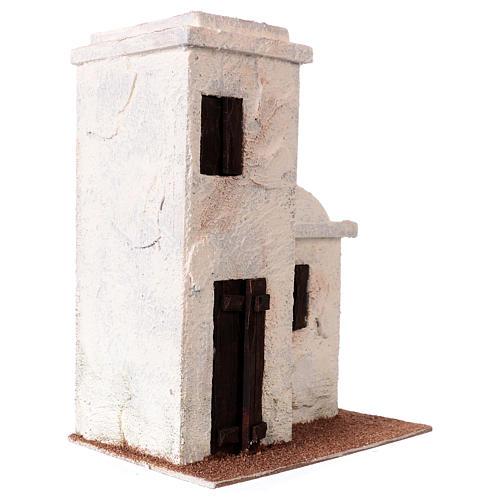 Maisonnette style palestinien 25x20x15 cm pour crèches de 9 cm 3