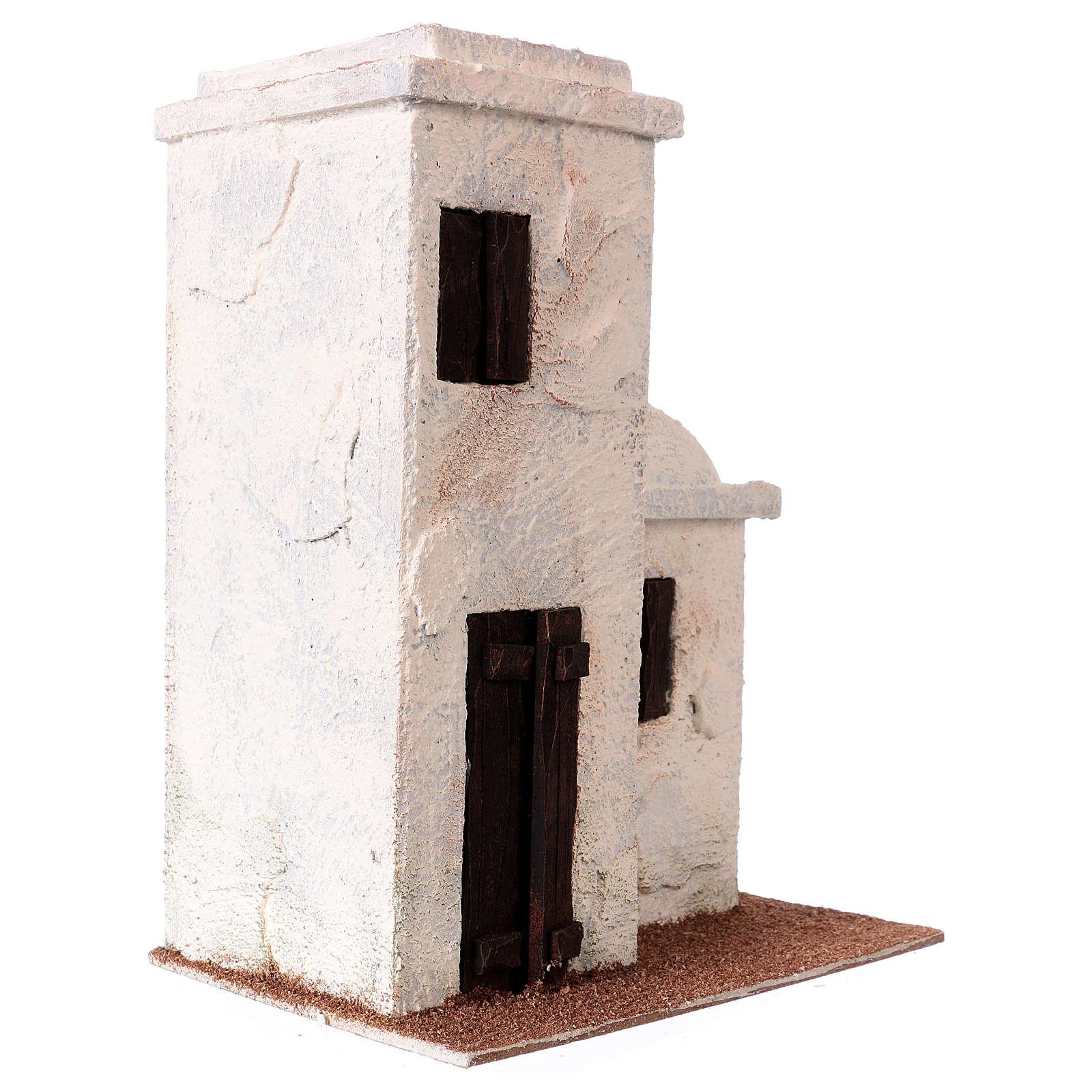 Casetta stile palestinese 25x20x15 per presepi di 9 cm 4