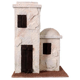 Casetta stile palestinese 25x20x15 per presepi di 9 cm s1