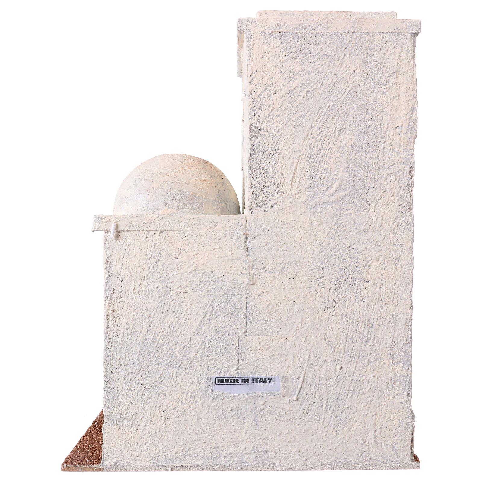 Casetta stile palestinese 30x25x15 per presepi di 10 cm 4