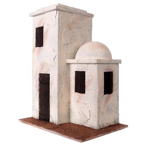 Casetta stile palestinese 30x25x15 per presepi di 10 cm 2