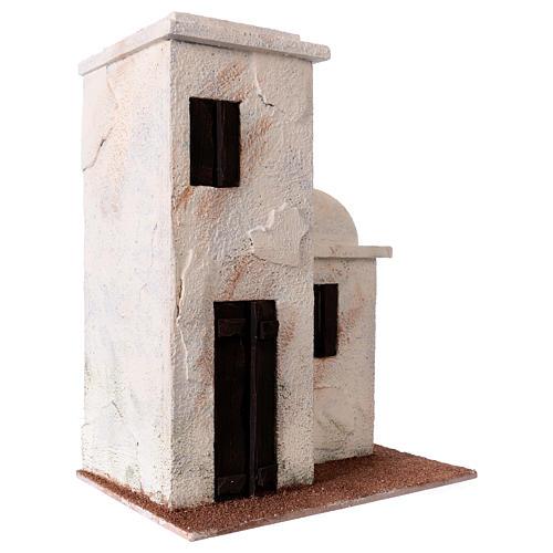 Casetta stile palestinese 30x25x15 per presepi di 10 cm 3