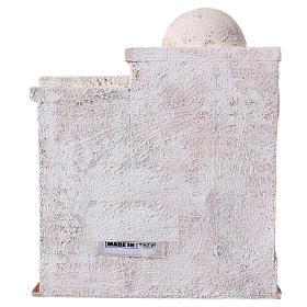 Casetta 2 ingressi e scale stile palestinese 25x20x15 cm per presepi di 9-10 cm s4