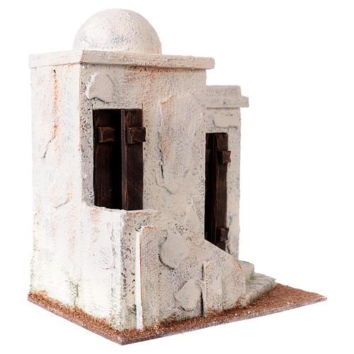 Casetta 2 ingressi e scale stile palestinese 25x20x15 cm per presepi di 9-10 cm 3