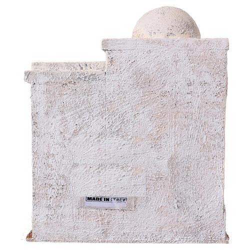 Casetta 2 ingressi e scale stile palestinese 25x20x15 cm per presepi di 9-10 cm 4