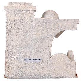 Casetta tettoia laterale e ingresso con gradini 20x20x15 cm per presepi 9-10 cm s4