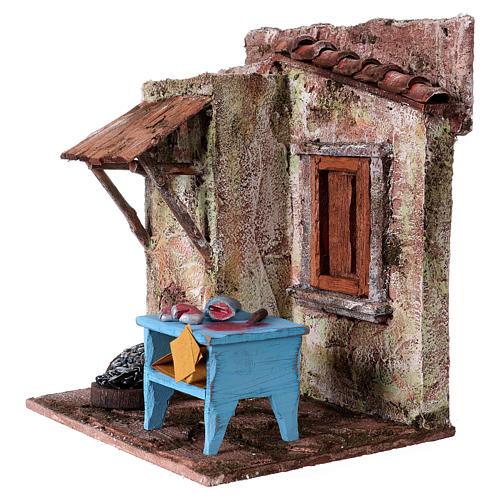 Pescivendolo casetta per statue 10-11 cm 20x17x14,5 cm  2