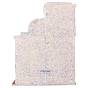 Casetta palestinese con finestre 30x25x15 cm per presepi di 11 cm s4
