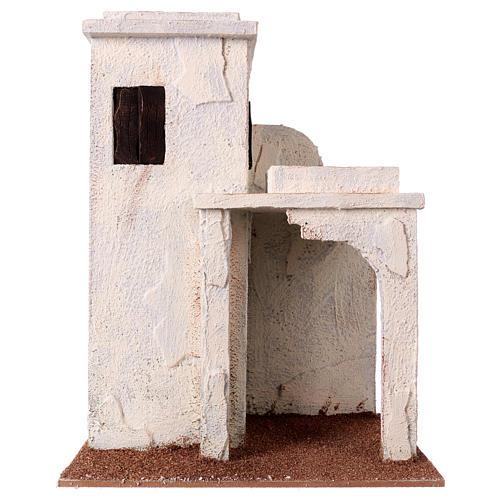 Casetta palestinese con finestre 30x25x15 cm per presepi di 11 cm 1