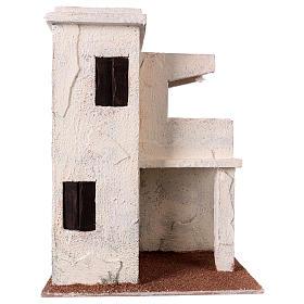 Casas, ambientaciones y tiendas: Casita con porche estilo palestino 30x25x15 cm para belenes de 11 cm