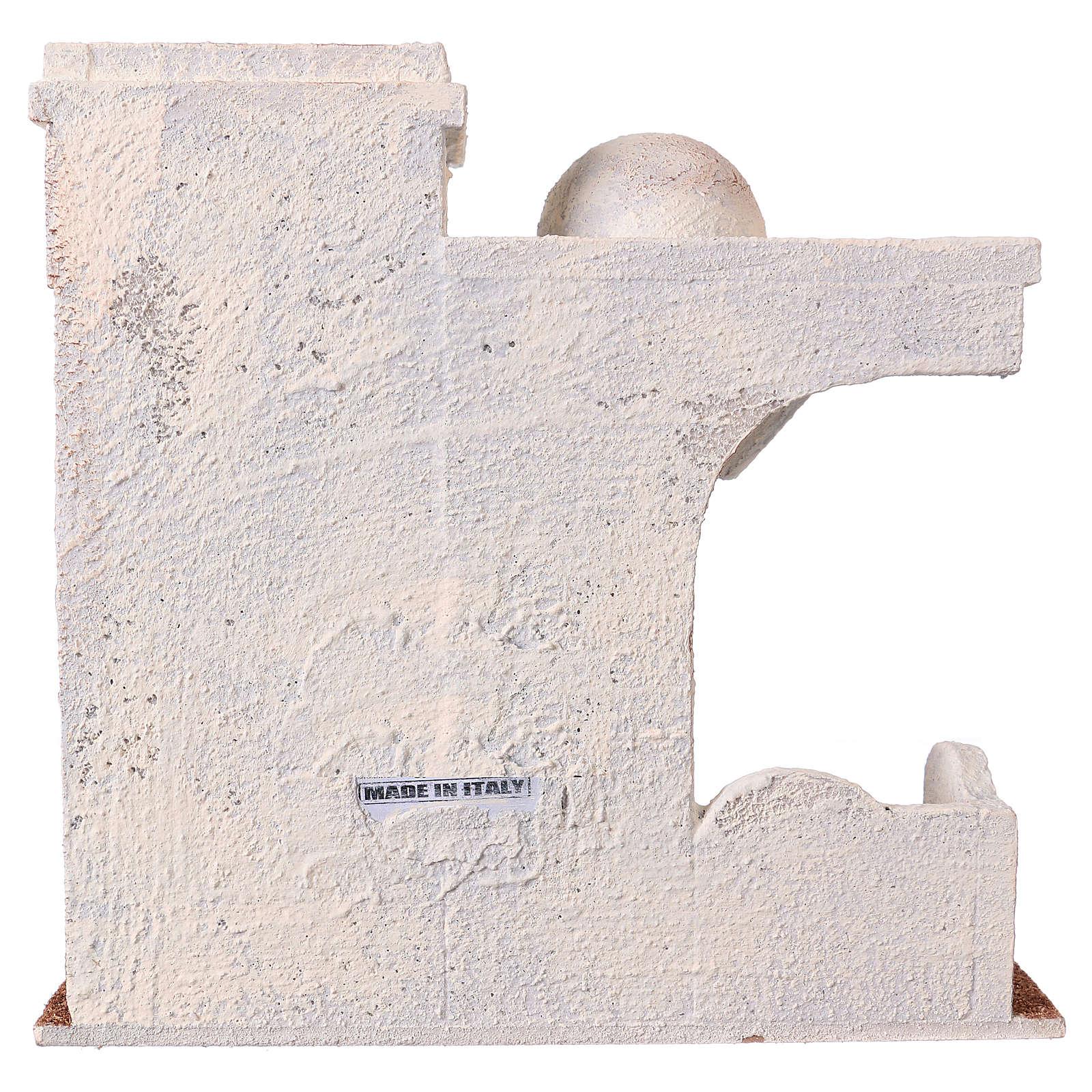 Entrée De Maison Avec Marche maison auvent latérale et entrée avec marches 25x25x15 cm pour crèche 11 cm