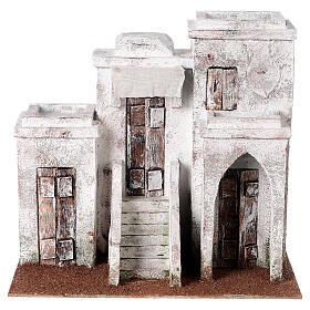 Casa araba con 3 ingressi 25x30x20 cm per presepi di 9 cm s1