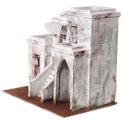 Casa araba con 3 ingressi 25x30x20 cm per presepi di 9 cm 2