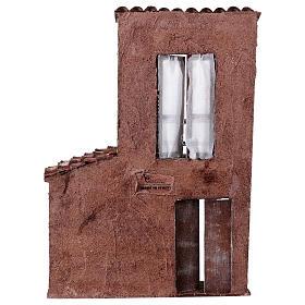 Fachada balcón y puerta ventana 37x26,5x5 cm para belenes 11 cm s4