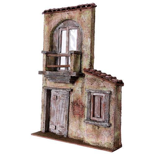 Fachada balcón y puerta ventana 37x26,5x5 cm para belenes 11 cm 2