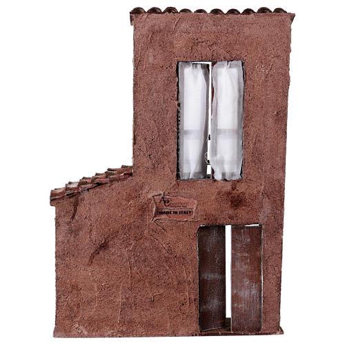 Fachada balcón y puerta ventana 37x26,5x5 cm para belenes 11 cm 4
