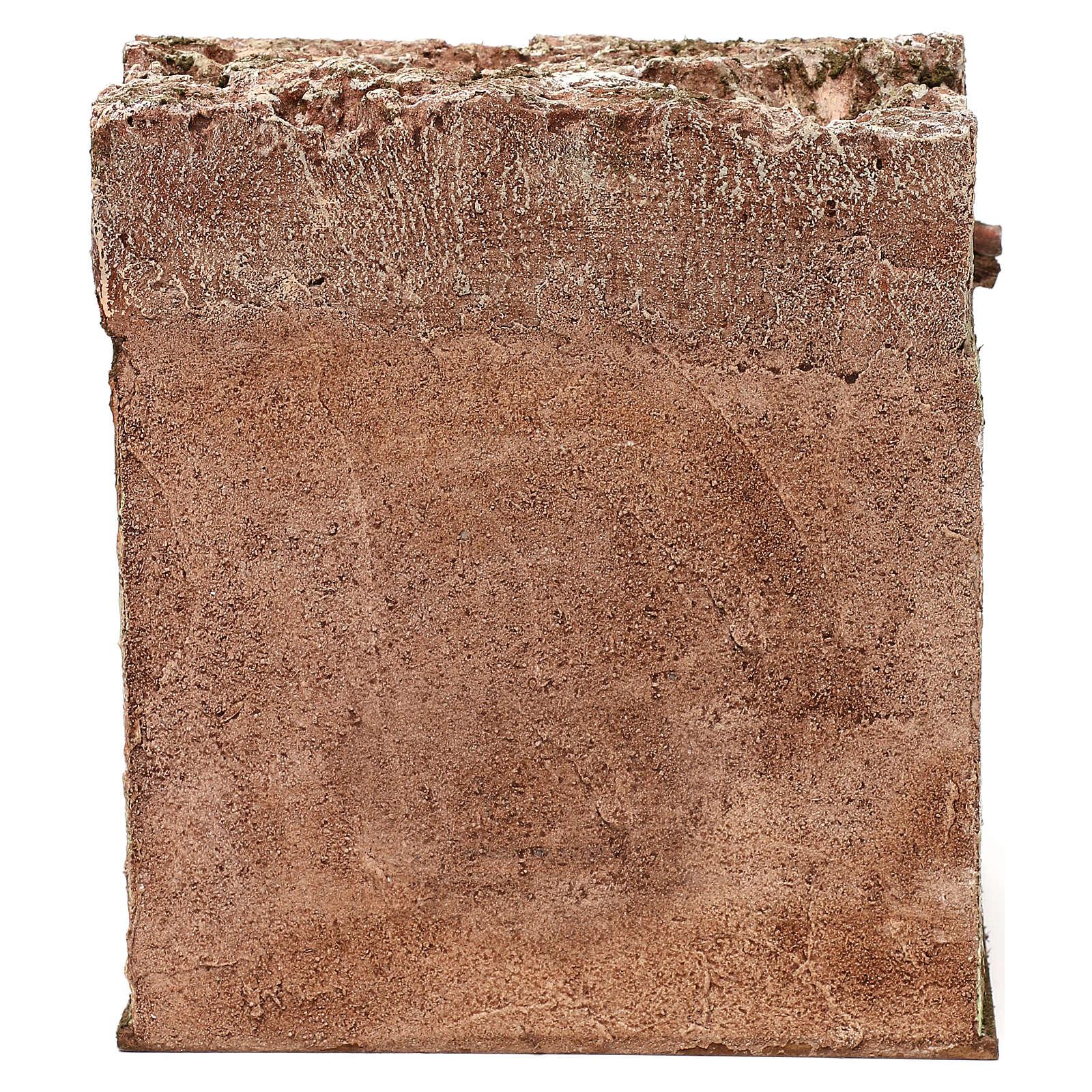 Osteria presepe 10 cm ambientazione 20x20x15 cm 4