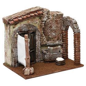 Casa di una lavandaia presepe 12 cm ambientazione 20x25x20 cm  s3