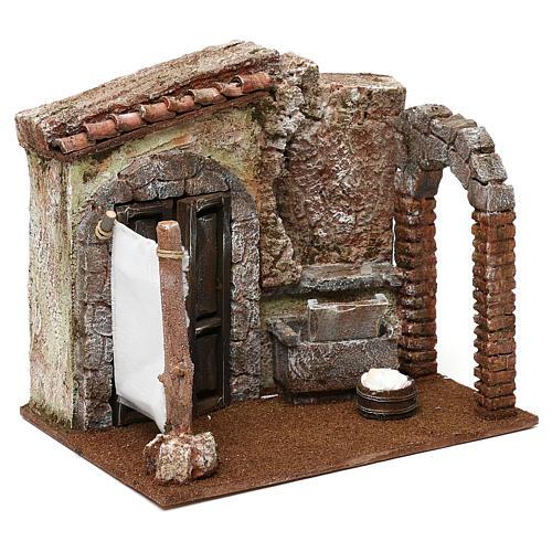Casa di una lavandaia presepe 12 cm ambientazione 20x25x20 cm  3