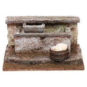 Lavatoio in pietra presepe 10 cm ambientazione 8x12x10 cm s1