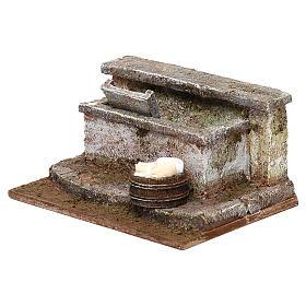 Lavatoio in pietra presepe 10 cm ambientazione 8x12x10 cm s2