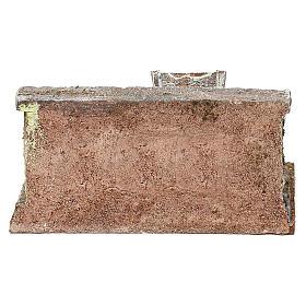 Lavatoio in pietra presepe 10 cm ambientazione 8x12x10 cm s4