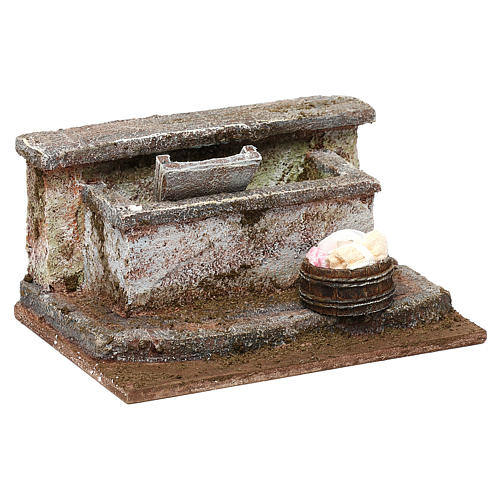 Lavatoio in pietra presepe 10 cm ambientazione 8x12x10 cm 3