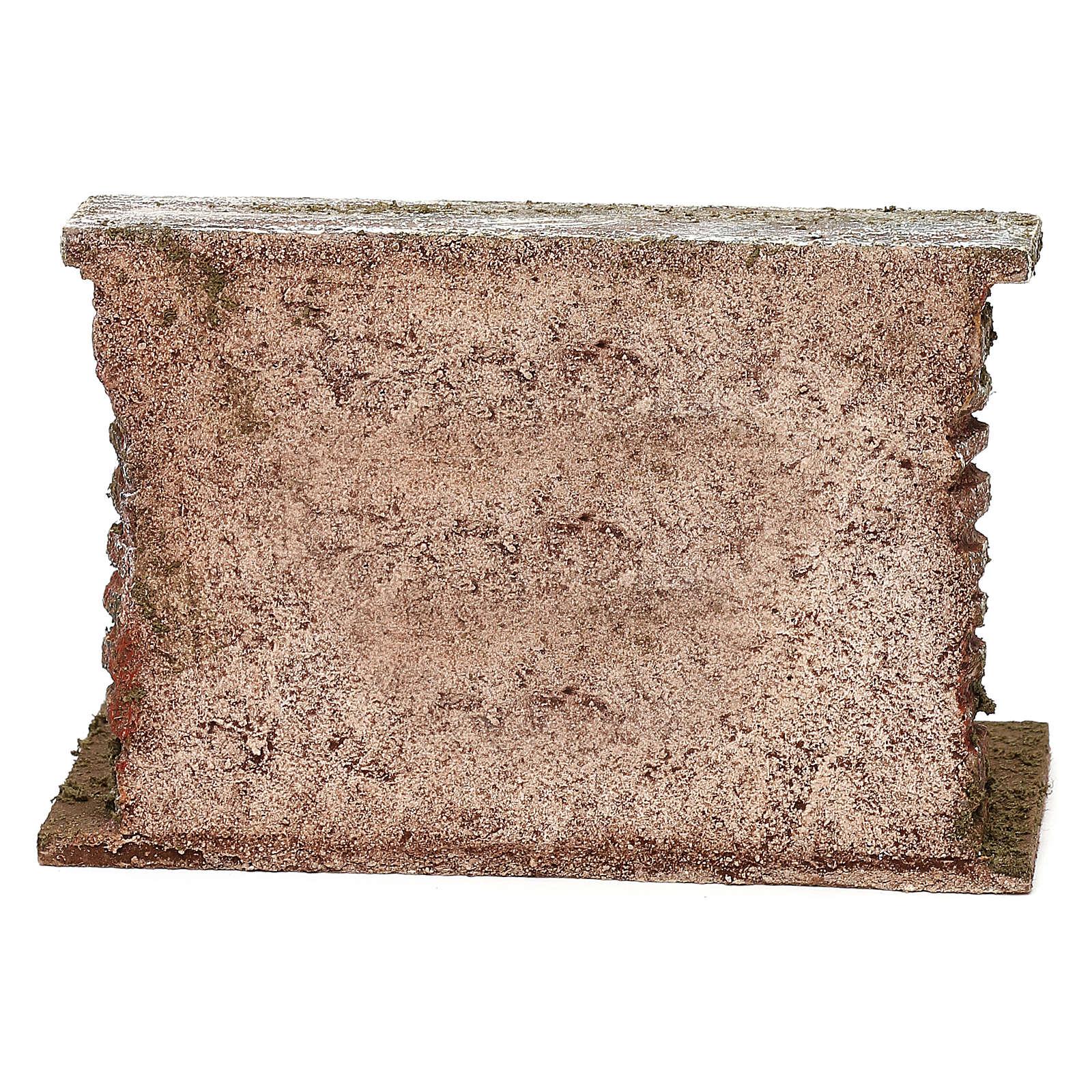 Botti adagiate al muro presepe 12 cm ambientazione 10x15x5 cm 4