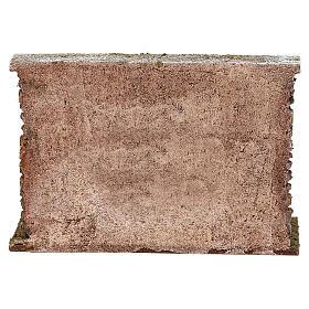 Muro con botti sproporzionate presepe 12 cm ambientazione 10x20x5 cm s4