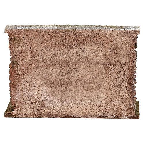 Muro con botti sproporzionate presepe 12 cm ambientazione 10x20x5 cm 4