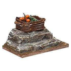 Cassetta su roccia presepe 10 cm ambientazione 5x10x5 cm s3
