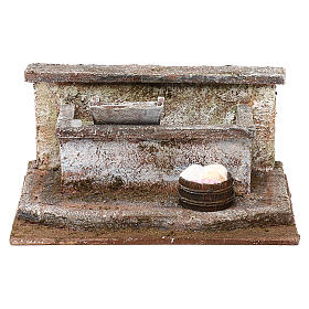Lavandino con panni presepe 12 cm ambientazione 10x15x15 cm s1